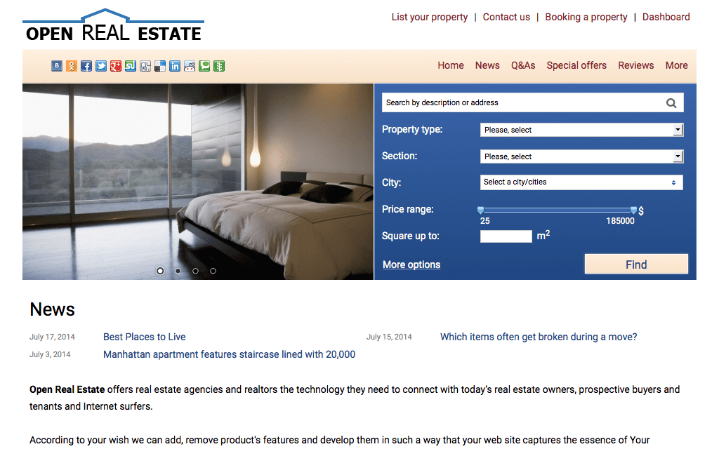 open real estate