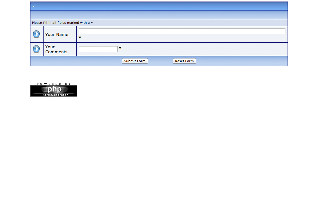phpformgenerator 3.0