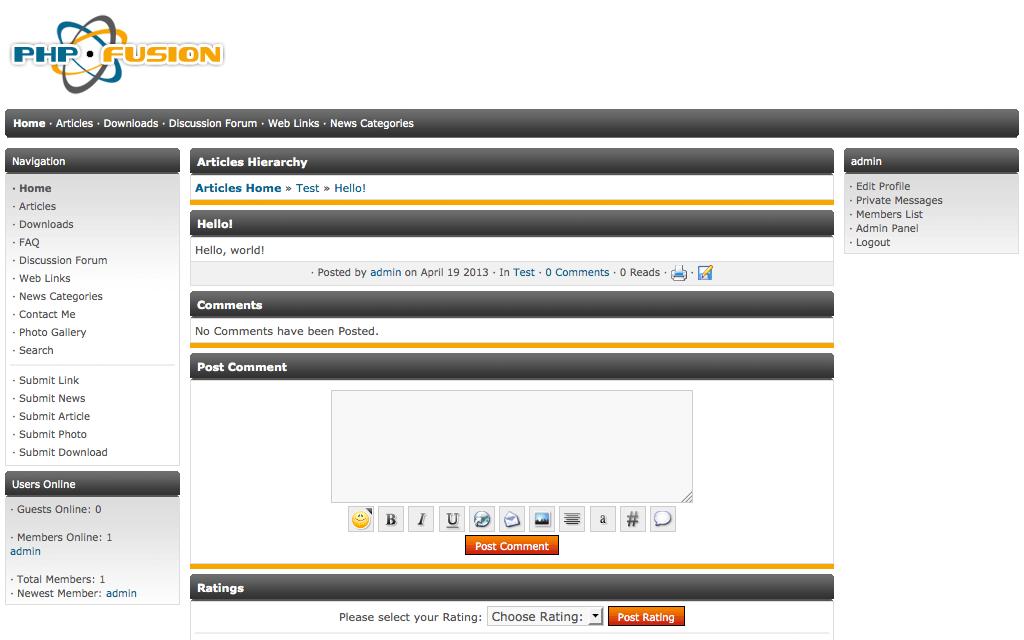 download php сервер e107: